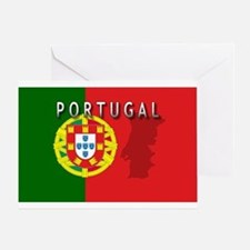 Portugal Flag Extra Greeting Card
