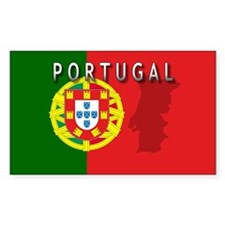 Portugal Flag Extra Rectangle Decal
