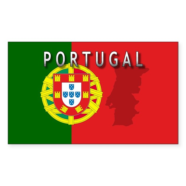 Portugal flag extra rectangle decal by intlcarstickers for Portugal flag coloring page