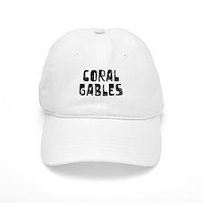 Coral Gables Faded (Black) Baseball Cap