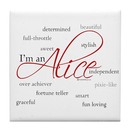 I'm an Alice Tile Coaster