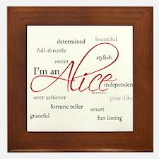 I'm an Alice Framed Tile
