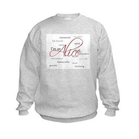 I'm an Alice Kids Sweatshirt