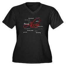 I'm an Alice Women's Plus Size V-Neck Dark T-Shirt