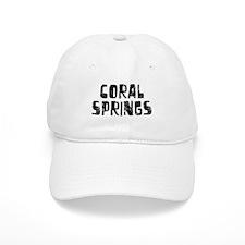Coral Springs Faded (Black) Baseball Cap
