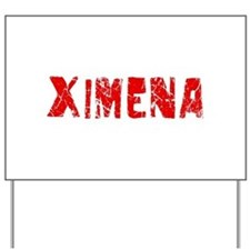 Ximena Faded (Red) Yard Sign