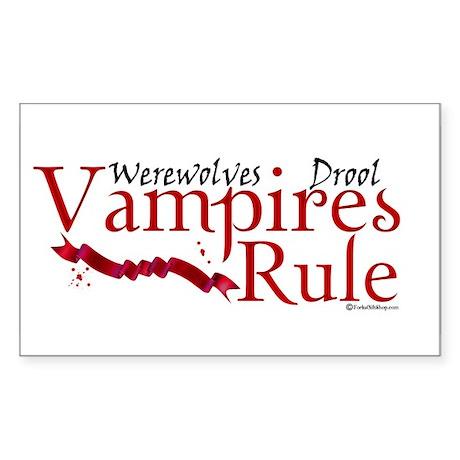 Vampires Rule Rectangle Sticker