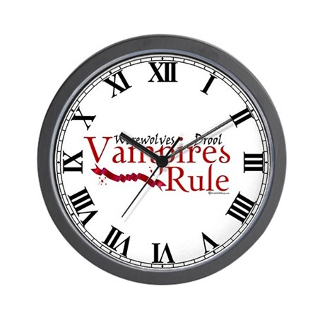 Vampires Rule Wall Clock