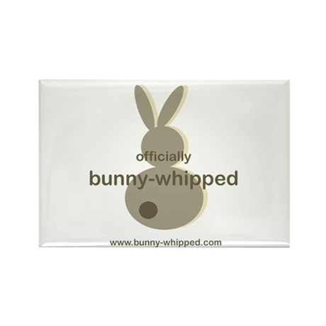 officially bunny-whipped Rectangle Magnet