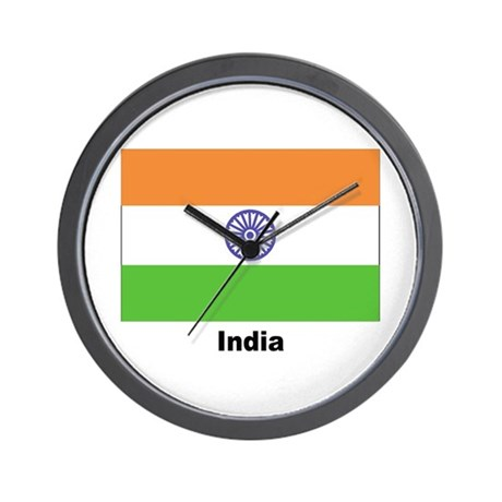 India Indian Flag Wall Clock
