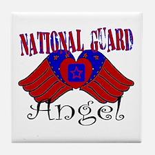 National Guard Angel Tile Coaster
