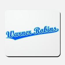 Retro Warner Robins (Blue) Mousepad