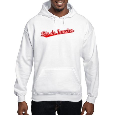 Retro Rio de Janeiro (Red) Hooded Sweatshirt