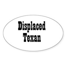 Displaced Texan Oval Decal
