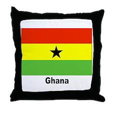 Ghana Flag Throw Pillow
