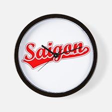 Retro Saigon (Red) Wall Clock