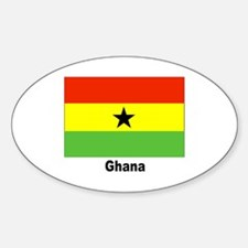 Ghana Flag Oval Bumper Stickers