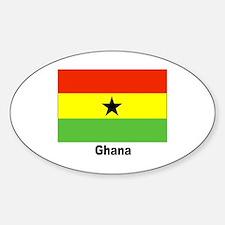 Ghana Flag Oval Decal