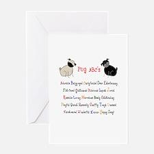 Pug ABC's Greeting Card
