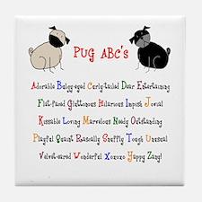 Pug ABC's Tile Coaster