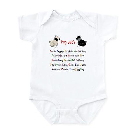 Pug ABC's Infant Bodysuit