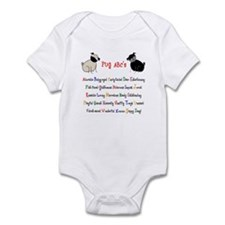 Pug ABC's Infant Bodysuit