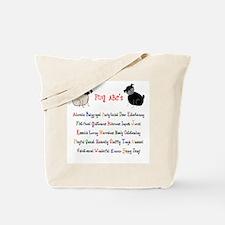 Pug ABC's Tote Bag
