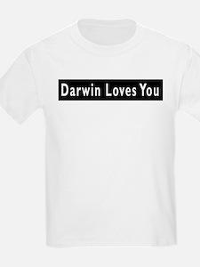 Cute Darwin loves you T-Shirt