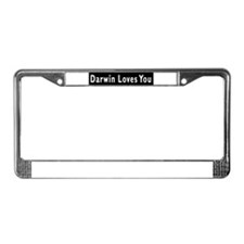 Unique Darwin License Plate Frame