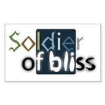 Soldier of Bliss Rectangle Sticker