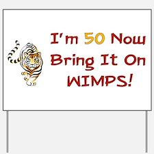 50th Birthday Tiger Yard Sign