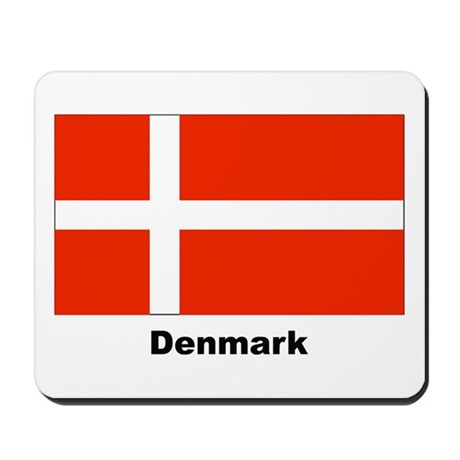 Denmark Danish Flag Mousepad
