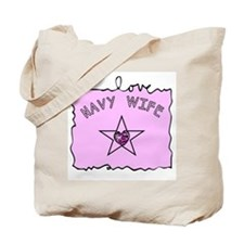 Navy Wife Tote Bag