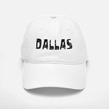 Dallas Faded (Black) Baseball Baseball Cap