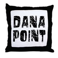 Dana Point Faded (Black) Throw Pillow
