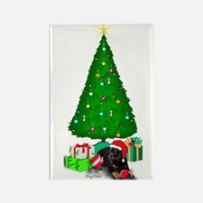 Rotty puppy christmas Rectangle Magnet
