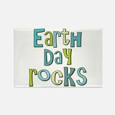 Earth Day Rocks Holiday Rectangle Magnet