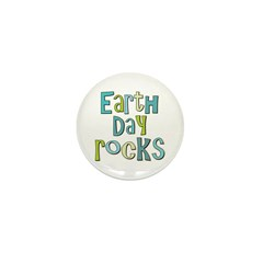 Earth Day Rocks Holiday Mini Button (10 pack)
