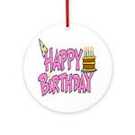Birthday Girl Keepsake (Round)