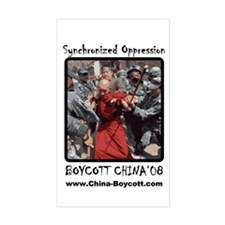 Boycott Bejing 2008 Rectangle Decal