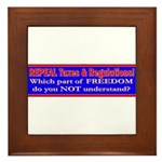 Repeal Taxes#1 Framed Tile