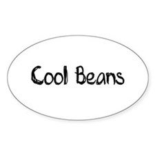 Cool Beans Oval Decal