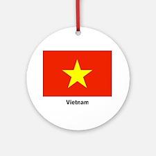 Vietnam Flag Keepsake (Round)