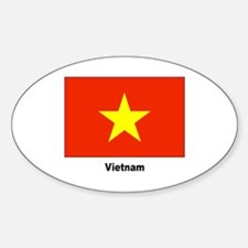 Vietnam Flag Oval Decal