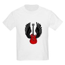 Winged Guitar (red) T-Shirt