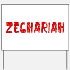 Zechariah Faded (Red) Yard Sign