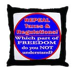 Repeal Taxes#1c Throw Pillow