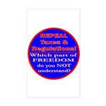 Repeal Taxes#1c Rectangle Sticker
