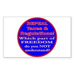 Repeal Taxes#1c Rectangle Sticker 10 pk)