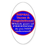 Repeal Taxes#1c Oval Sticker (10 pk)